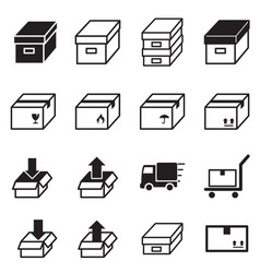 Logistic delivery icons symbo vector