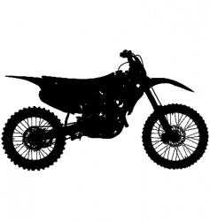motocross bike vector image