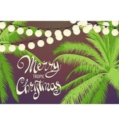 Original Christmas palm trees vector image vector image