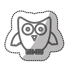 silhouette sticker owl icon vector image vector image