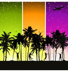 summer holidays vector image vector image