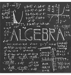 Algebraic class blackboard vector image vector image