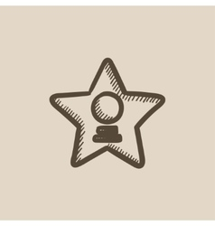 Cinema star sketch icon vector image