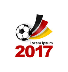 germany football sport badge emblem vector image