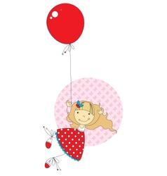 Girl with a balloon vector image vector image