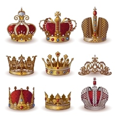 Royal Crowns Collection vector image