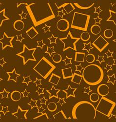 star seamless pattern yellow stars on dark vector image vector image