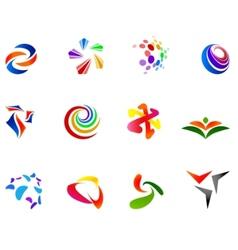 12 colorful symbols set 7 vector