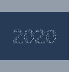 2020 frozen ice snow numbers vector image