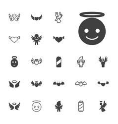 22 angel icons vector