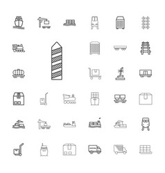 33 freight icons vector image