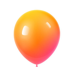 3d realistic colorful birthday balloon vector image