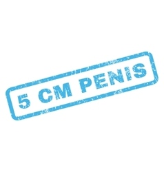 5 cm Penis Rubber Stamp vector