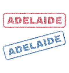 Adelaide textile stamps vector