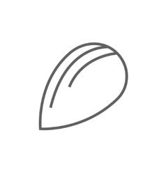 Almond line icon vector image