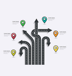Arrow road map of business and journey vector