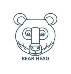 bear head line icon bear head outline vector image