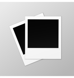 Blank Retro Photo Frames Close up on Background vector image