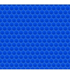 Blue Pattern Hexagon Mosaic vector image