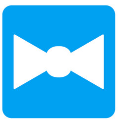 Bow tie rounded square icon vector