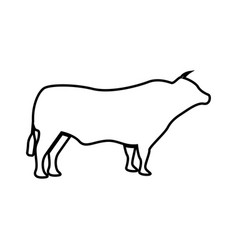 bull it is black icon vector image