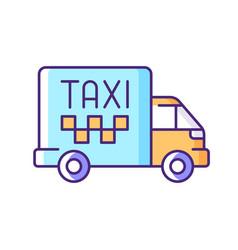 cargo taxi rgb color icon vector image