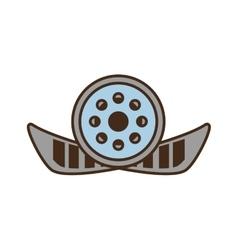 Cartoon reel film movie wheel icon vector