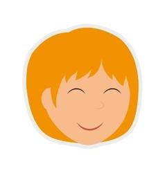 Cartoon woman icon Person design graphic vector image