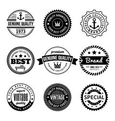 Collection of Labels with retro vintage styled vector image