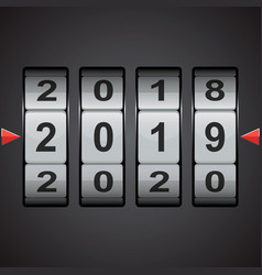 Combination code lock numbers happy new year vector