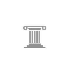 creative law building justice logo vector image