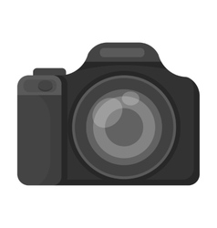 Digital camera icon in monochrome style isolated vector