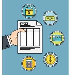 Document invoice payment icon graphic vector
