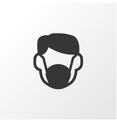 Dust mask icon symbol premium quality isolated vector
