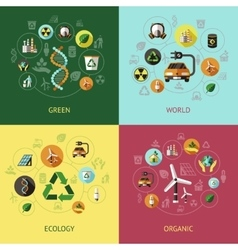 Ecology Colored Compositions vector image