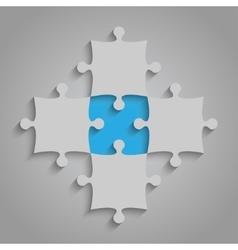 Element Puzzles JigSaw - 5 Pieces Blue vector