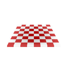 empty chess board in red and white design vector image