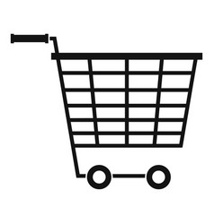 empty supermarket cart with plastic handles icon vector image