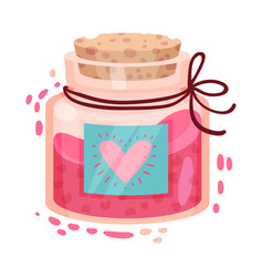 Fairy flask with love potion inside as saint vector