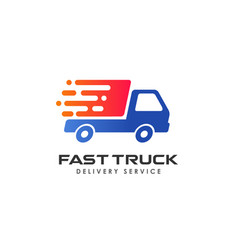 Fast delivery services logo design courier logo vector