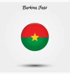 flag burkina faso icon vector image