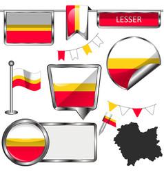 flag lesser poland vector image