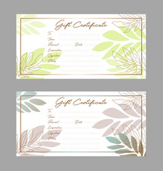 gift voucher certificate template with simple vector image