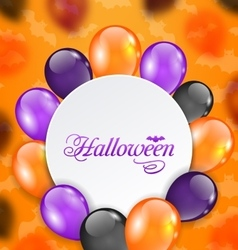 Halloween Greeting Card with Colored Balloons vector image