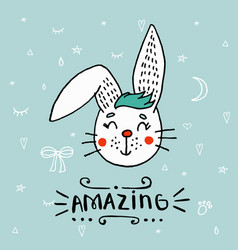 hand drawn a cute funny vector image