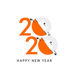 Happy new year 2020 celebration template design vector