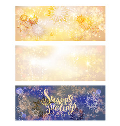 Holiday snow banners vector