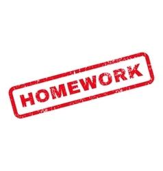 Homework Text Rubber Stamp vector