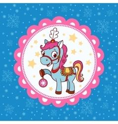 Horse circus card design vector