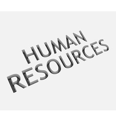 Human resources text design vector